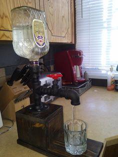 Homemade liquor dispensers