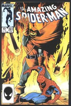 Amazing Spider-Man 261 - Fire - Hobgoblin - Marvel - Goblin - Superhero - Charles Vess