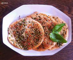Linsen Uttahpam, Indisch schwäbisch Italienischer Linsen Pfannkuchen - Lentils Uttahpam fusion style