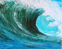 THE WAVE -Original acrylic painting by TERESA