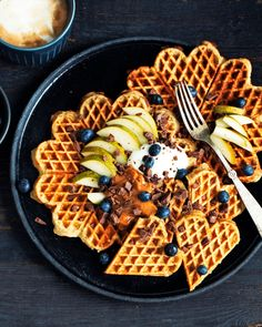 Waffles, Pancakes, Diabetic Desserts, Recipe Of The Day, Food Inspiration, Healthy Snacks, Banan, Breakfast Recipes, Food And Drink
