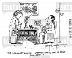 CartoonStock - 'This is from City Hospital.Everyone born in 1931 is being recalled. Political Cartoons, Funny Cartoons, City Hospital, Medical Humor, Argo, Comics, Memes, Illustration, Humor