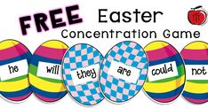 Engage your students while they practice contraction skills! Students match eggs to make contractions. Great for literacy centers or as a partner game. This Easter activity is perfect for grade or grade students! It is FREE! Free Teaching Resources, Teaching Activities, Teaching Ideas, Art Activities, 3rd Grade Activities, Easter Activities, 5th Grade Classroom, Classroom Freebies, Concentration Games