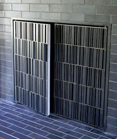 stainless steel fireplace doors