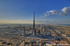 the highest building in the world in dubai #UnitedArabEmirates