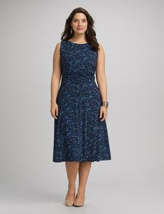DB Plus Size | Dresses | A-line Dresses | Plus Size Ruched Floral Dress