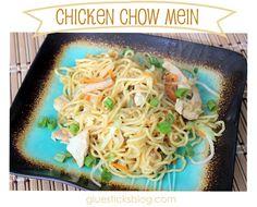 Easy Chicken Chow Mein   Gluesticks