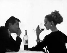 confidentwomen: Walter Chiari and Monique Chevalier by Bert Stern for Vogue April, Bert Stern, Black And White Couples, In Vino Veritas, Fashion Mode, The Villain, Gentleman Style, True Gentleman, Couple Shoot, Sensual