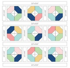 Free Easy Quilt Patterns Instructions : Hugs -- Fig Tree Quilts - would be easy to piece I think, little matching needed, and would ...