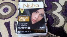 Zig Zac Mania: Nisha Color Sure (Natural Black-01) Hair Color Rev...