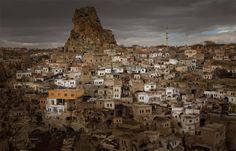 town of cappadocia, turkey ~ image by hironobu mochizuki