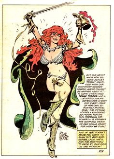 Red Sonja by Frank Thorne Marvel Comics, Marvel Comic Books, Marvel Heroes, Comic Books Art, Red Sonja, Fantasy Heroes, Fantasy Women, Jordi Bernet, Heavy Metal Art
