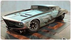 """Slick Car Concepts by 600v - Like the """"painting"""" effect on the render."""