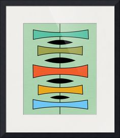 """Trapezoids "" by Donna Mibus, Dallas // From the Mid Century Modern Shapes Series // Imagekind.com -- Buy stunning fine art prints, framed prints and canvas prints directly from independent working artists and photographers."
