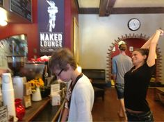 The Naked Lounge Coffee shop. Love the coffee and this place in Sacramento.