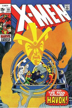 Cover to X-Men #58 by the great Neal Adams.