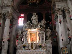 Basilica di Santa Maria Della Salute - Venice, Italy - High Altar Virgin Panel - San Tito Madonna