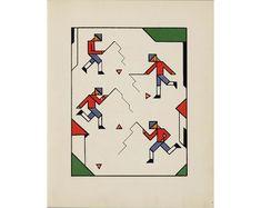 Lou Loeber   Gouden Vlinders illustration, 1927 ✭ vintage kids book // livre enfant Bauhaus