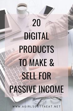 20 types of digital products you can make and sell for passive income. What are you doing to make more money in Creating a digital product is one of the best ways to sell your knowledge and skills without exchanging your time for money. Make Money Blogging, Make Money From Home, Way To Make Money, Money Fast, Money Tips, What To Sell, Make And Sell, How To Make, Start A Business From Home