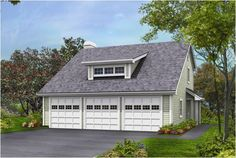 Two Story Garages   CAR GARAGE PICTURE PLAN THREE « Floor Plans