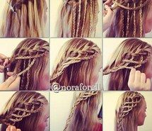 Inspiring image diy, hairstyle, hair, braids #1130404 by illya. Resolution: 500x504px. Find the image to your taste!