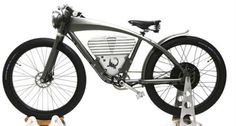 http://chicerman.com  stardotcreations:  What were looking at is the Icon E-Flyer the Californian companys new electric bike. Its inspired by early World War I-era board racers but packs a 3500-Watt electric motor and 52v battery. Limited to 750 Watts for the road itll carry you for 35 miles on a two-hour charge. Itll top out at 36 miles per hour derestricted but is limited to 20 mph for the road.  #accessories