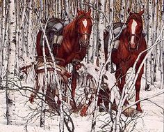 Two Indian Horses...Bev Doolittle