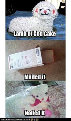Lamb of God Cake       Nailed it