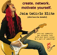 GoGirls Elite is a service for indie women musicians and their bands. Through our membership program you can take advantage of showcase opportunities, valuable industry information, network with fellow musicians and so much more!