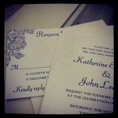 paisley letterpress invitations created at Chic Ink
