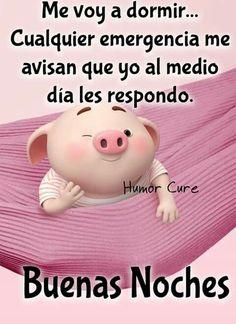 Cute Piglets, Good Night Friends, Pig Illustration, Funny Emoji, Funny Phrases, Spanish Quotes, Life Humor, Dory, Happy Birthday