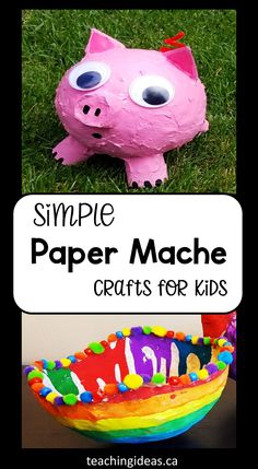All you need is flour, water and paper to make paper mache.  The crafts you can create are endless and kids will love this hands-on art activity.  So roll up your sleeves, get a little messy and have some fun!  #papermache #papermacherecipe #papermachecrafts #papermachecraftsforkids #papermacheart #papermacheprojects Paper Mache Crafts For Kids, Making Paper Mache, Paper Mache Projects, Easy Art Projects, Crafts For Kids To Make, Projects For Kids, Art For Kids, Preschool Art Activities, Summer Activities