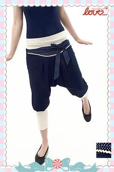 """Hose/Jumpsuit """"Olga"""" Punkte Marine von mydearlove® - shop auf DaWanda.com"""