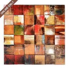 Dimensional Squares Canvas Art Print #kirklands #artwalls