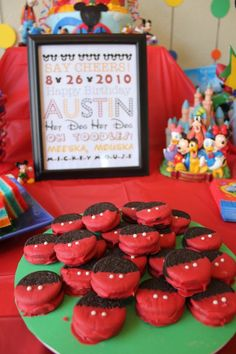 Free Mickey Party ideas & Printables!  http://www.simplyrealmoms.com/posts/free-mickey-mouse-themed-birthday-printable/