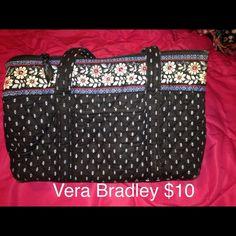 Selling this Vera Bradley black tote in my Poshmark closet! My username is: xansgirl. #shopmycloset #poshmark #fashion #shopping #style #forsale #Vera Bradley #Handbags