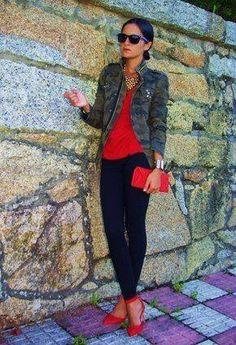 Camuflado com vermelho