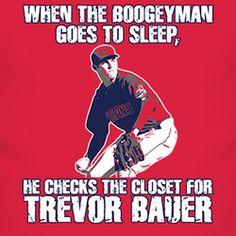 Trevor Bauer Cleveland Baseball Boogeyman T Shirt