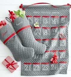 Quilted advent calender & matching stockings #xmas