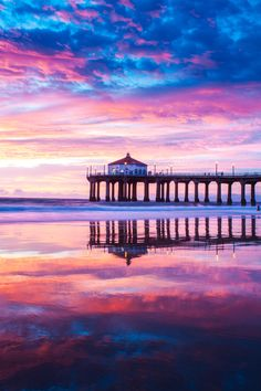 Manhattan Beach Pier Reflections No. 1 by Thomas Sebourn on 500px