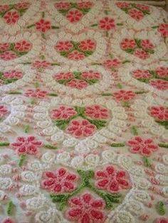 Pretty old-fashioned chenille bedspread, I'll take two.