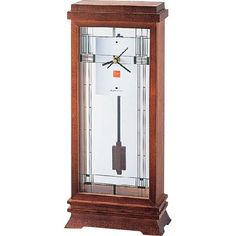 This mantel clock, from the Frank Lloyd Wright Collection, is an adaptation of a window from the Ward W. Willits house, a Prairie-style masterpiece.