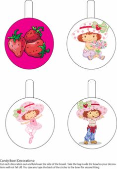 Strawberry Shortcake Bowl Decor Party Decorations