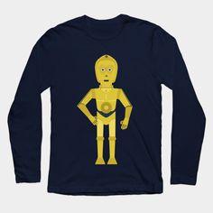 C3PO flat long sleeve t shirt