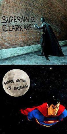 Superman responds to the Batman graffiti meme