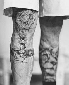 Leg Tattoos Designs - Badass Leg Tattoos for Men and Women - More Ta . - Leg Tattoos Designs – Badass Leg Tattoos for Men and Women – For more tattoo ideas, visit our w - Pretty Tattoos, Unique Tattoos, Tatuagem Sak Yant, Tattoos For Guys Badass, Best Tattoos For Men, Popular Tattoos, Initial Tattoo, Leg Tattoos Women, Men's Leg Tattoos