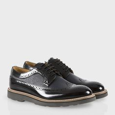 Paul Smith Women's Shoes   Black High-Shine Leather Grand Brogues