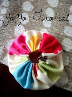 Yo Yo....YO! Check it out!    Yo yos?   What?   Yes, these little tiny circles of gathered cuteness are called Yo Yos. I just adore them....