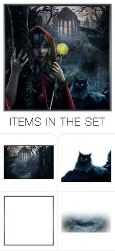 """""""Gothic Set -  Blue Eyes"""" by crezenthie ❤ liked on Polyvore featuring art"""