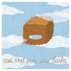 Beard Card Illustration Print